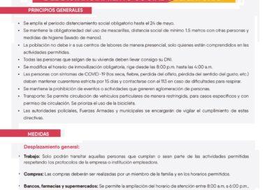 MEDIDAS PARA LA AMPLIACIÓN DEL DISTANCIAMIENTO SOCIAL OBLIATORIO
