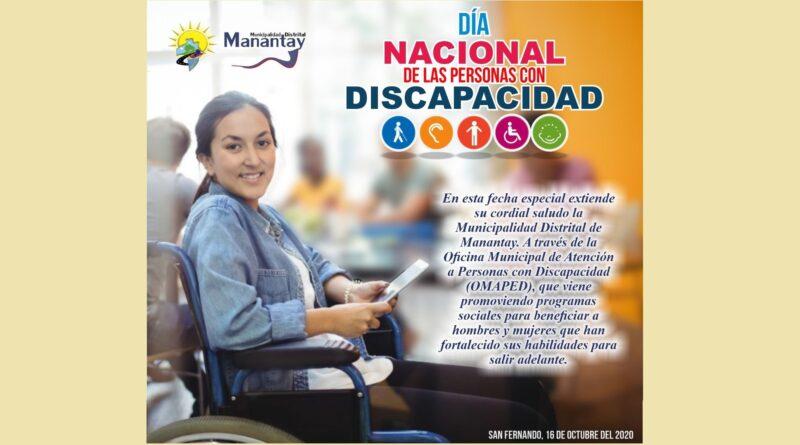 DÍA NACIONAL DE LAS PERSONAS CON DISCAPACIDAD